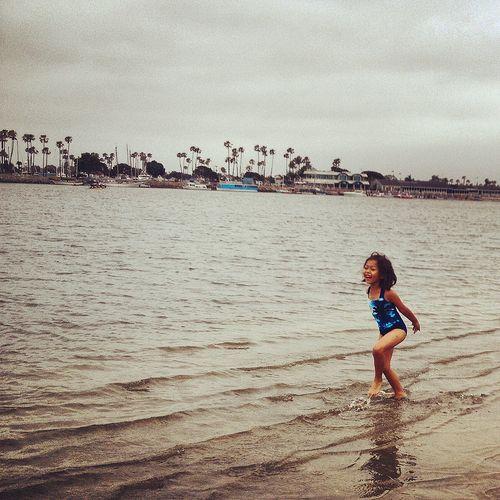 Emi on the beach